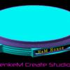 円形模型台3d図面完成