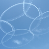 福岡の青空をバックに描かれたブルーインパルスの【桜】。感動の7分間。