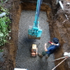 浄化槽の工事が始まりました