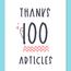 祝100記事!久々の運営報告と100記事書いて思うこと