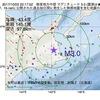 2017年10月03日 22時17分 根室地方中部でM3.0の地震