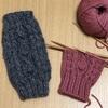 お次は三つ子お豆のデミクラブ(指なし手袋)、編み始めました