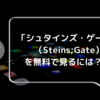 「シュタインズ・ゲート」(Steins;Gate)を無料で見る方法は?おすすめ視聴順やあらすじも紹介!