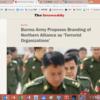 少数民族連合軍を「テロ組織」としようという提案・・・民族和解の行方混沌