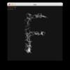 文字を画像化してピクセルデータを利用する