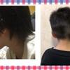 こどもの髪を自宅で切りました