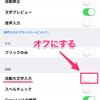 1日20秒でできるiPhone入門(英字の一文字目を大文字にしない方法)