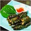 沖縄料理の宴5/5:ピパーチの代用でチャプルー団子|豚肉ハーブ団子のチャプルー巻き