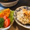 土鍋×昆布出汁で、鮭の炊き込みご飯を作りました^_^
