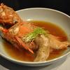 豊洲の「高はし」でおまかせコース4(きんき煮付け、鰤刺身、ひらめ昆布締め、鰆西京漬け酒蒸し、菜の花おひたし)。
