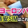【ヨーロッパ各国対応】コスパ最強のSIMカード(O2) [Mewfi]