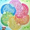大人の塗り絵『動物たちと花のぬり絵 ゆめの楽園(絵:ミリー・マロッタさん)』から♪