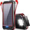 コンセントがなくても太陽光で充電できる モバイルバッテリー ソーラー 30000mAh 大容量