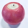 ピンクの色玉キャンドル。