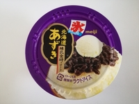 明治「北海道あずき」練乳金時フロートが当たり前に美味しい。まるで甘味処気分を楽しんで欲しい。
