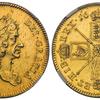 イギリス1673年チャールズ2世5ギニー金貨NGC AU58