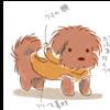 【モフモフ犬イラスト】うちの犬の持ち服まとめ