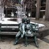 雪の日1℃のモントリオール民の服装