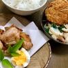 お昼ごはんは唐揚げと練り物盛り合わせ。