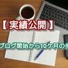 【 実績公開 】ブログ開始から10ケ月の歩み