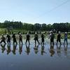 小学校でお米作り③|参観日は田植え作業