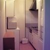 以前住んでいた賃貸の台所&手放した食器棚の画像がありました。