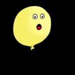 黄色い風船 のイラスト