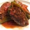 子ども食堂レシピ 「ピーマンの肉詰め トマト煮込み」