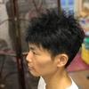 髪を立たせるための、ツイストパーマ。鈴鹿市 バーバーそらまめ