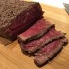 薪ストーブで牛塊肉を適当に焼くよ