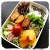 【お弁当】人参とオクラの肉巻き弁当