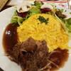 新宿サブナード 「卵と私」でオムライスもいいけどお肉もね