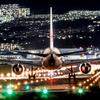 千里川土手へ夜間航空機を撮りに行く