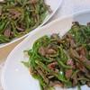 肉ですよ、肉!青椒肉絲とホットプレートでビビンパ風