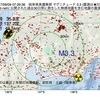 2017年09月09日 07時29分 岐阜県美濃東部でM3.3の地震