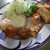 幸運な病のレシピ( 596 )朝;味噌汁、目玉焼き、鮭、残り物