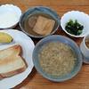 ヨーグルトとパンと榎のスープと薄揚げのおでん