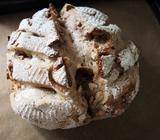 ドライいちじくとクルミのライ麦カンパーニュの作り方(直径20cmのざる使用)