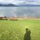 カルデラ湖の辺りにて