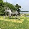 山口県 宇部市 常磐湖を中心と広がる 緑と花の総合公園「ときわ公園」を散策、不思議な彫刻群