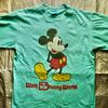 古着1980年代ミッキーマウスTシャツをご紹介。アメリカ製の染み込みプリントです