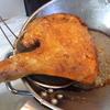 幸運な病のレシピ( 1677 )昼:鶏モモカレー唐揚げ、サンマしそ巻竜田揚げ、揚餃子(市販品)