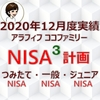 【NISA】楽天証券のNISA3つの口座2020年12月度実績
