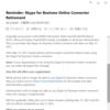 Microsoft 365 Skype for Business Online Connector の EOS の日程が決定したようです