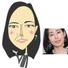 木村多江さんの似顔絵。さて、帰って絵を描こう!