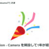 Circulation-Camera、1周年経過!