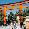 京都伏見稲荷大社の千本鳥居に圧倒されました