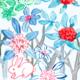 水彩イラスト うさぎ 植物 考え中、、