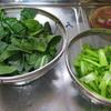 男厨_塩と酒のみの味付けで小松菜を食す
