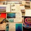 旅の記録はアナログな手描き、手貼りでコツコツが私流